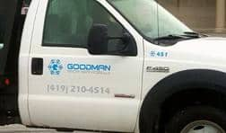About Goodman Snow Services - truck close up